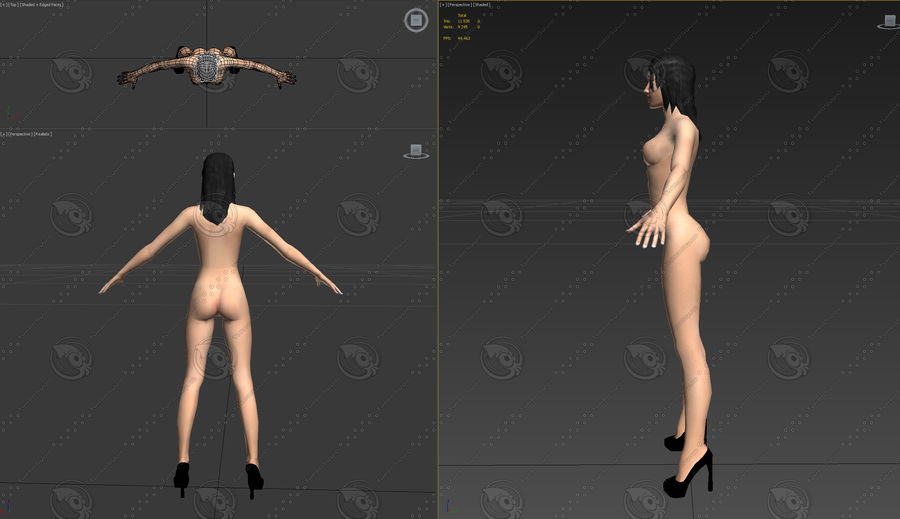 mulher royalty-free 3d model - Preview no. 5