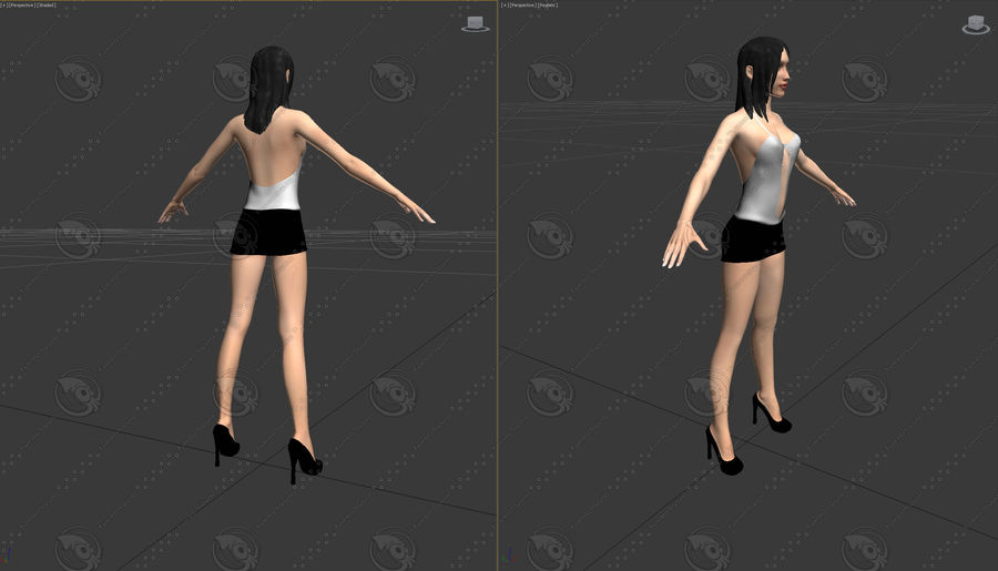mulher royalty-free 3d model - Preview no. 8