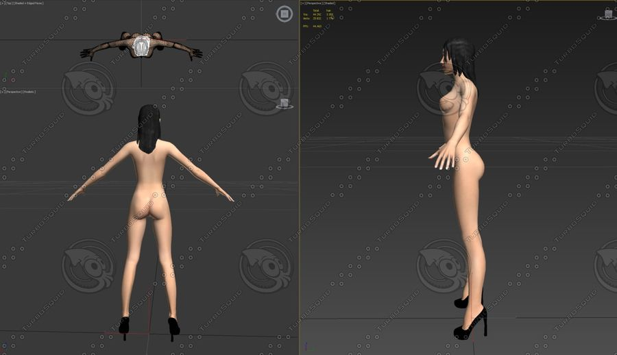 mulher royalty-free 3d model - Preview no. 4