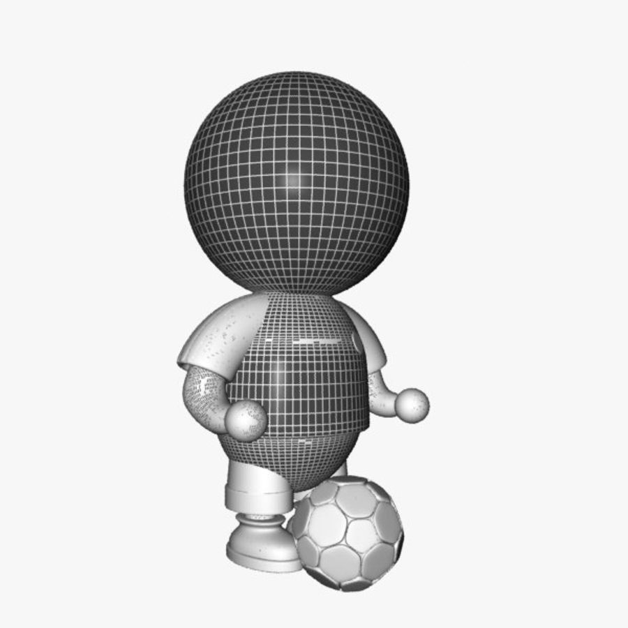 Cartoon Sportsman Character royalty-free 3d model - Preview no. 10