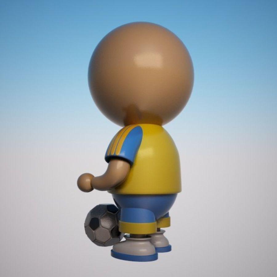 Cartoon Sportsman Character royalty-free 3d model - Preview no. 7