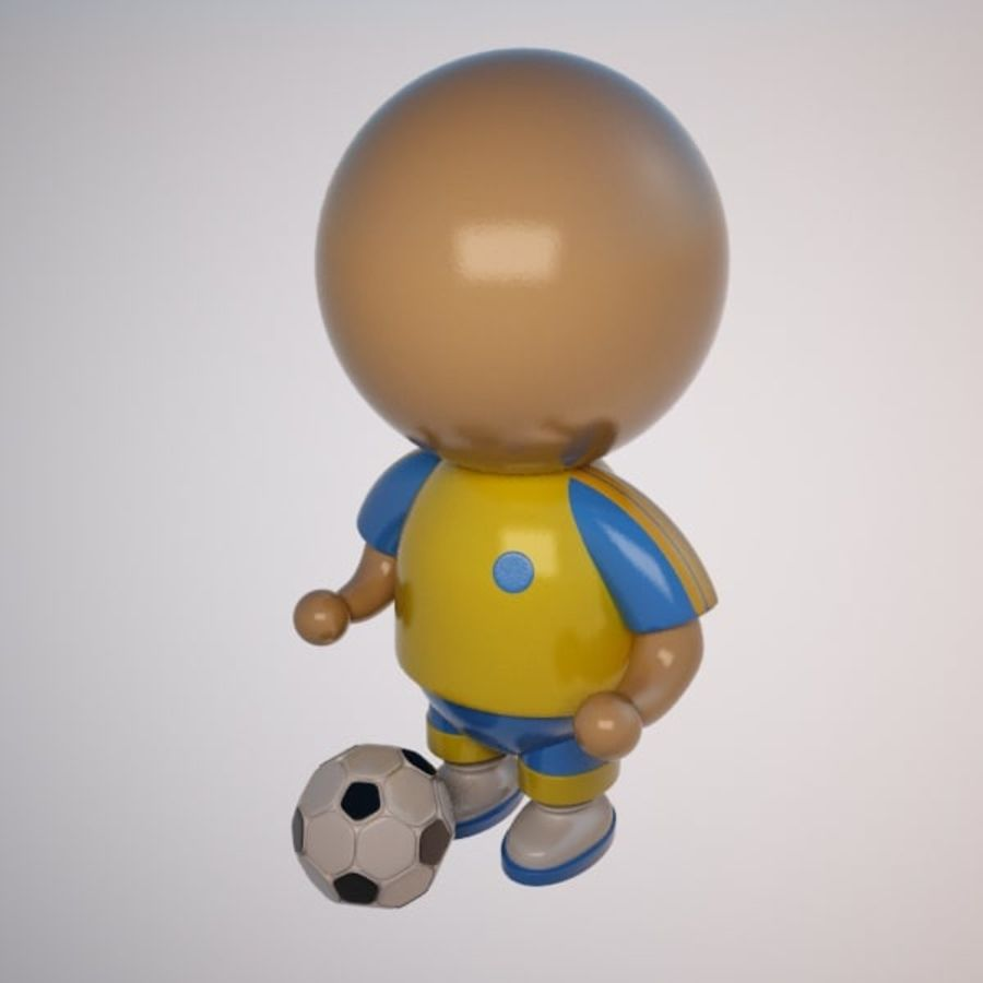 Cartoon Sportsman Character royalty-free 3d model - Preview no. 2