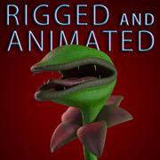 Carnivorous Plant RIGGED ANIMATED 3d model