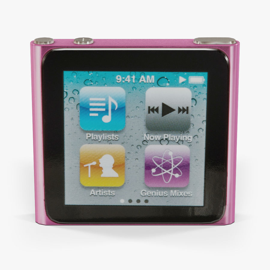 Apple iPod nano 6 Generation royalty-free 3d model - Preview no. 1