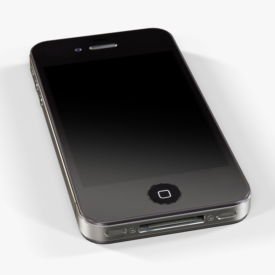 Apple iPhone 4S royalty-free 3d model - Preview no. 7