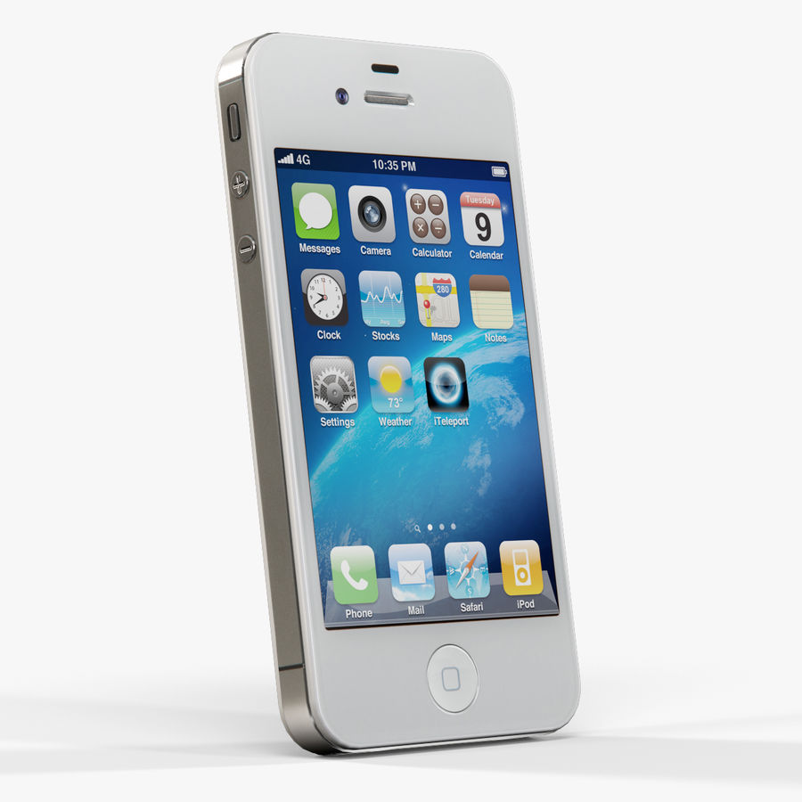 Apple iPhone 4S royalty-free 3d model - Preview no. 9