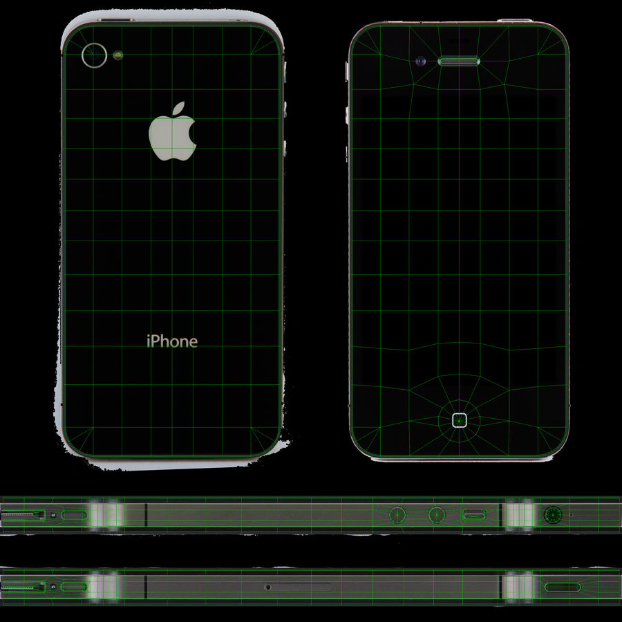Apple iPhone 4S royalty-free 3d model - Preview no. 18