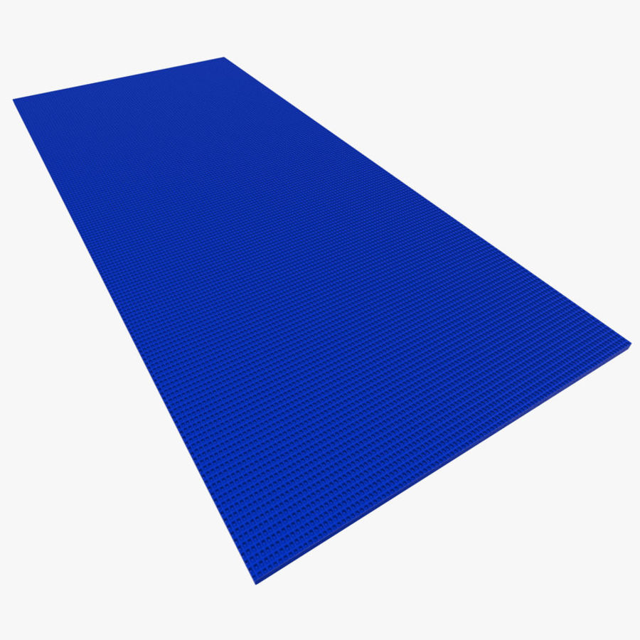 Flat Yoga Mat Blue Royalty Free 3d Model