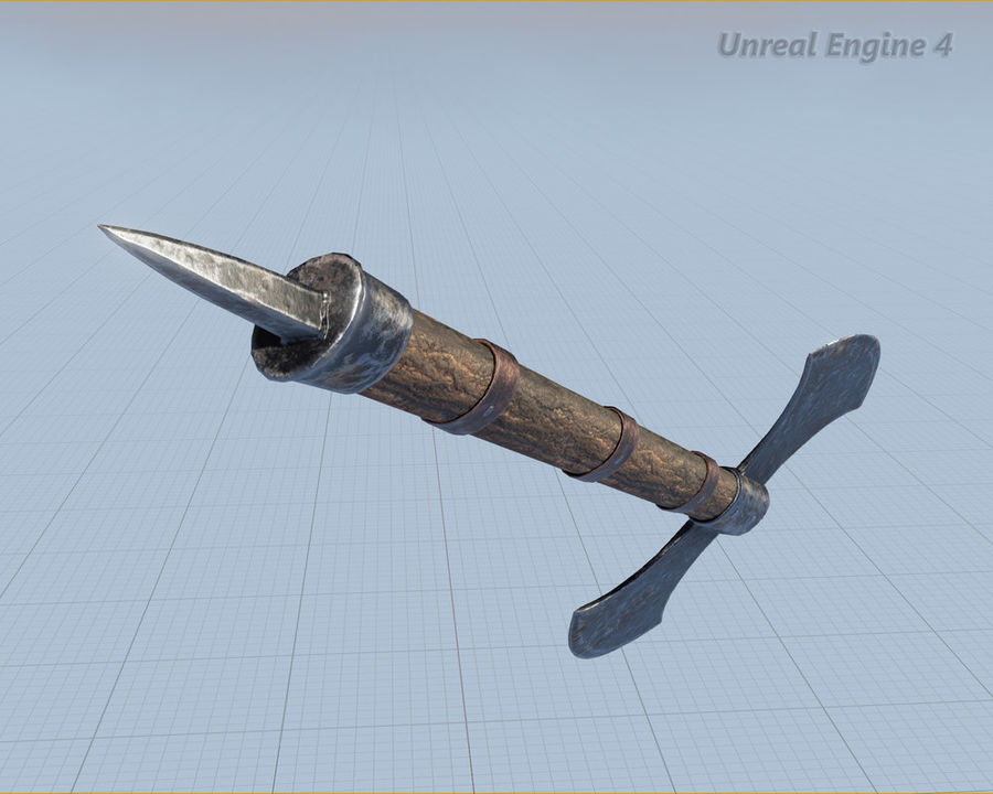 Battle Axe royalty-free 3d model - Preview no. 11