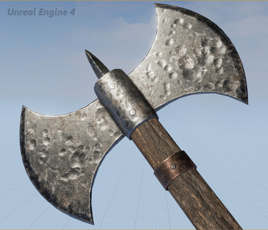Battle Axe royalty-free 3d model - Preview no. 12