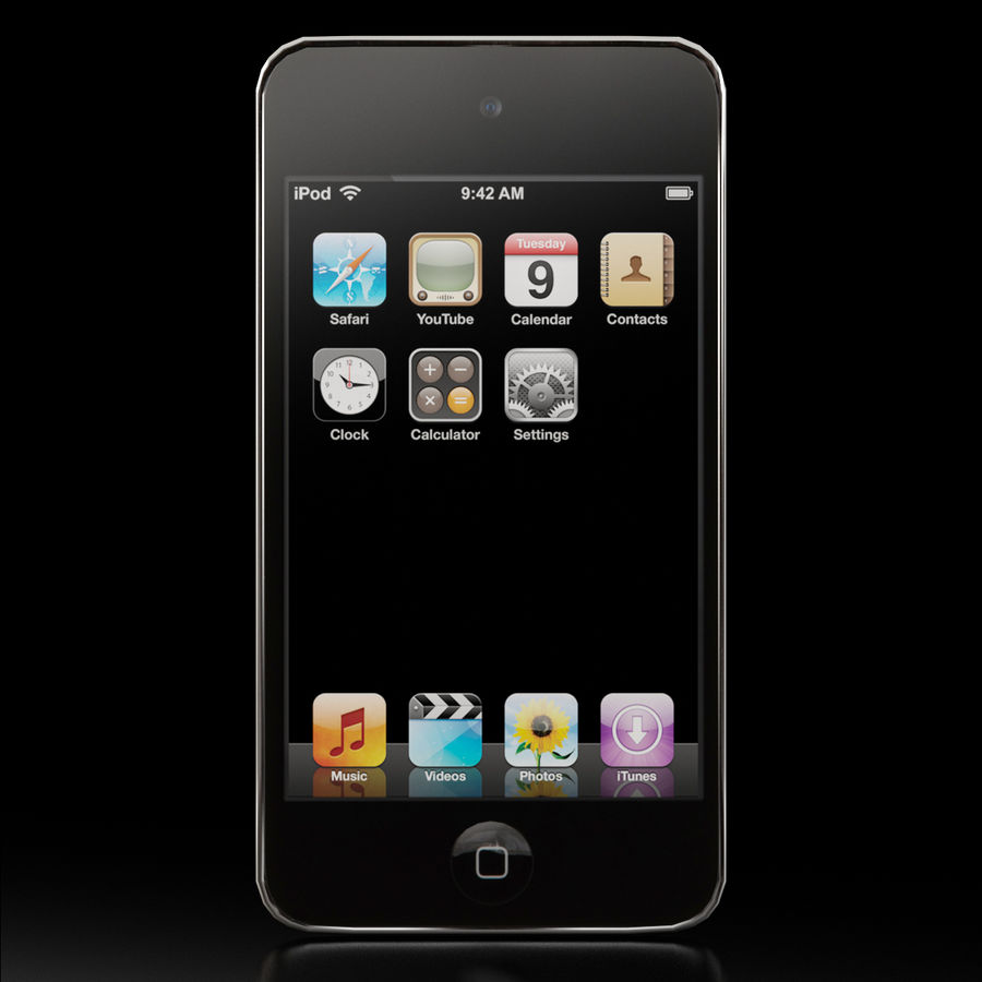 Apple iPod touch 4 Generation royalty-free 3d model - Preview no. 2