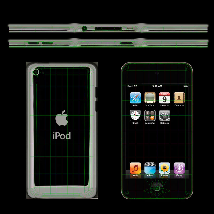 Apple iPod touch 4 Generation royalty-free 3d model - Preview no. 11