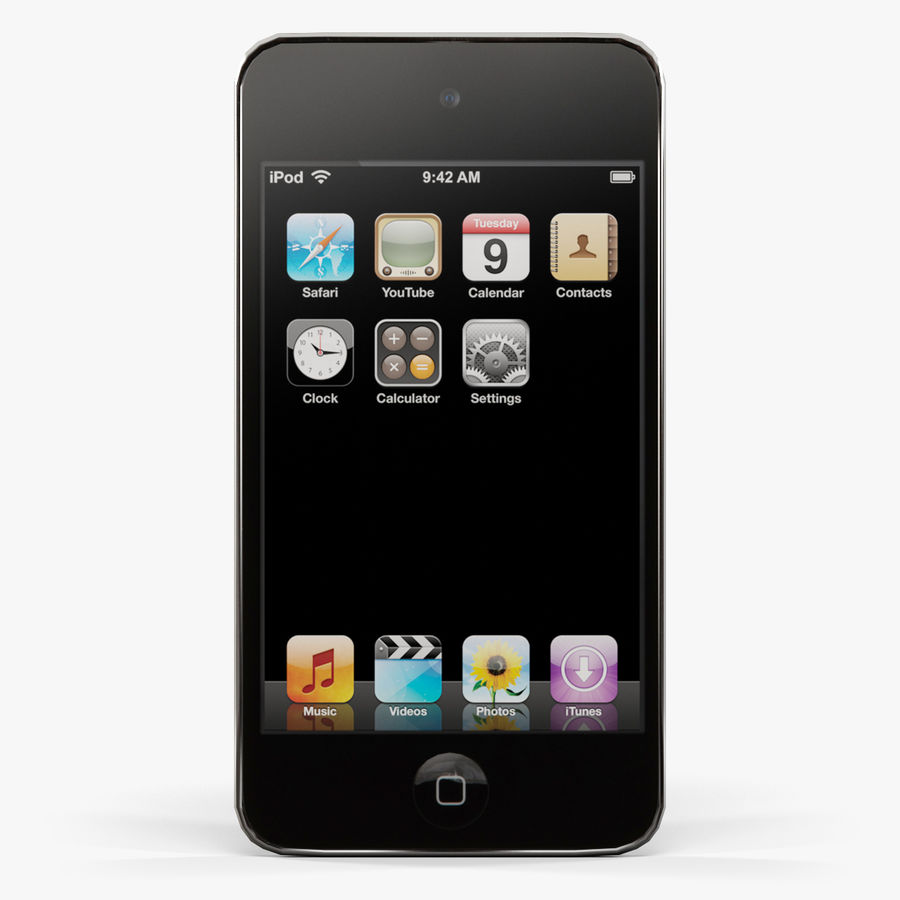 Apple iPod touch 4 Generation royalty-free 3d model - Preview no. 1