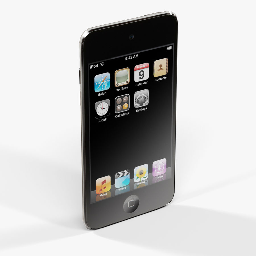 Apple iPod touch 4 Generation royalty-free 3d model - Preview no. 4