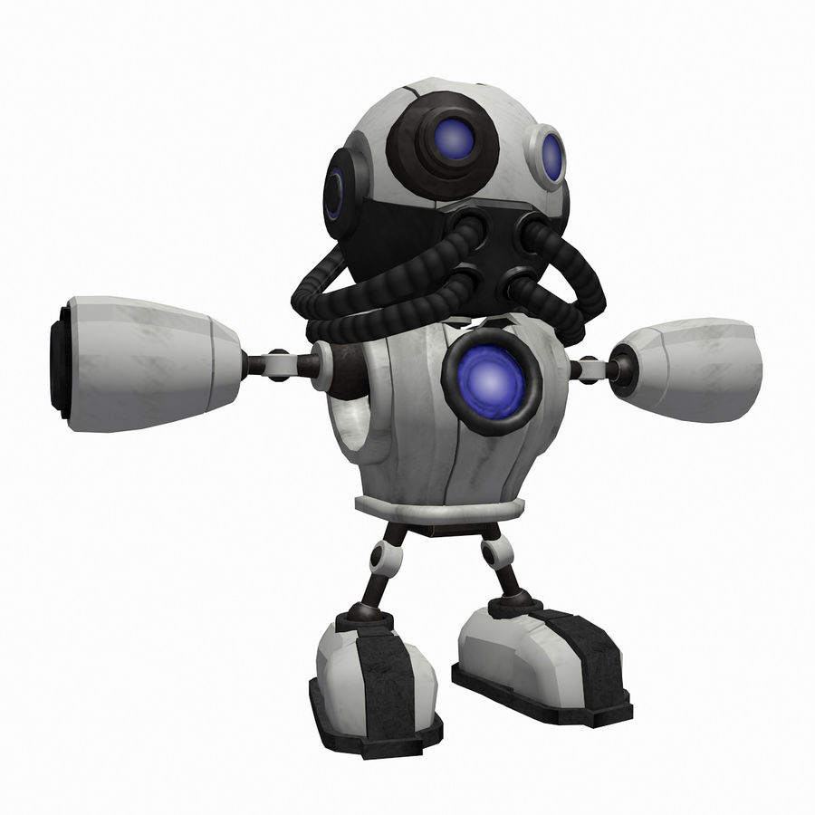 SciFi Robot 1 - Sci-Fi Cartoon Character royalty-free 3d model - Preview no. 1
