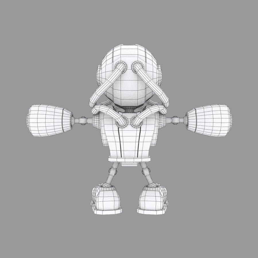 SciFi Robot 1 - Sci-Fi Cartoon Character royalty-free 3d model - Preview no. 7