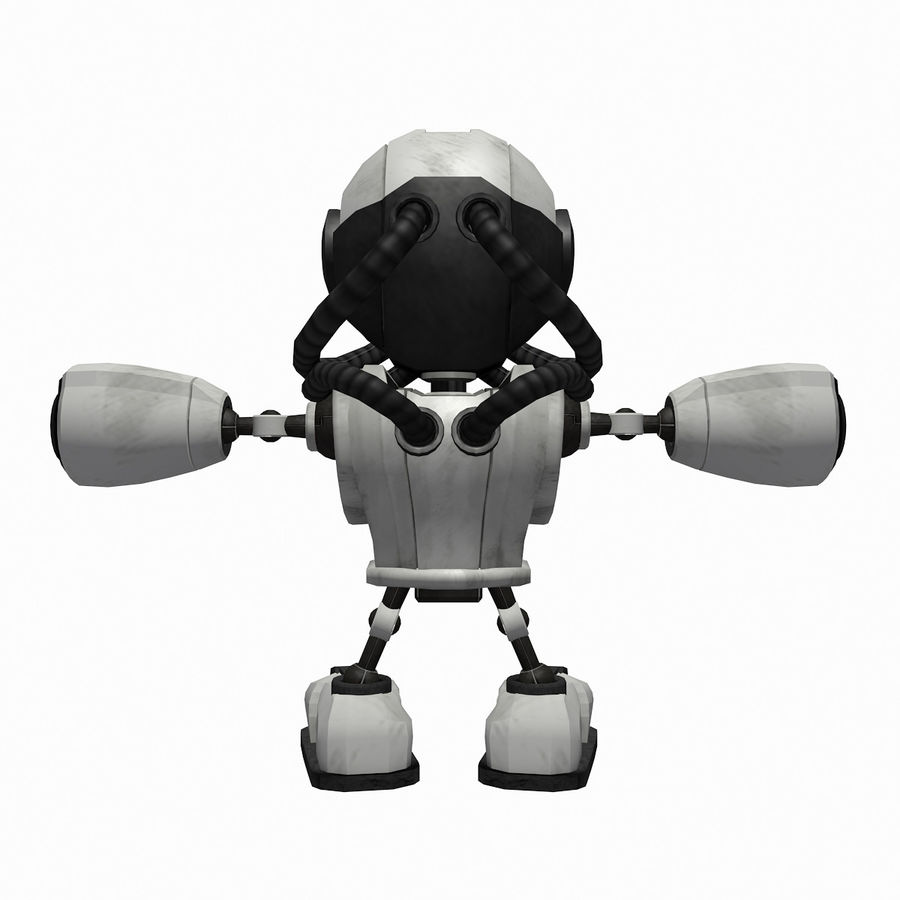 SciFi Robot 1 - Sci-Fi Cartoon Character royalty-free 3d model - Preview no. 4