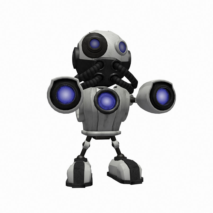 SciFi Robot 1 - Sci-Fi Cartoon Character royalty-free 3d model - Preview no. 3