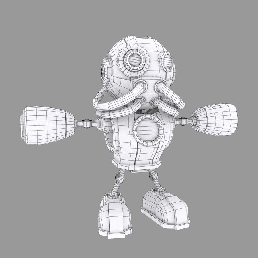 SciFi Robot 1 - Sci-Fi Cartoon Character royalty-free 3d model - Preview no. 5