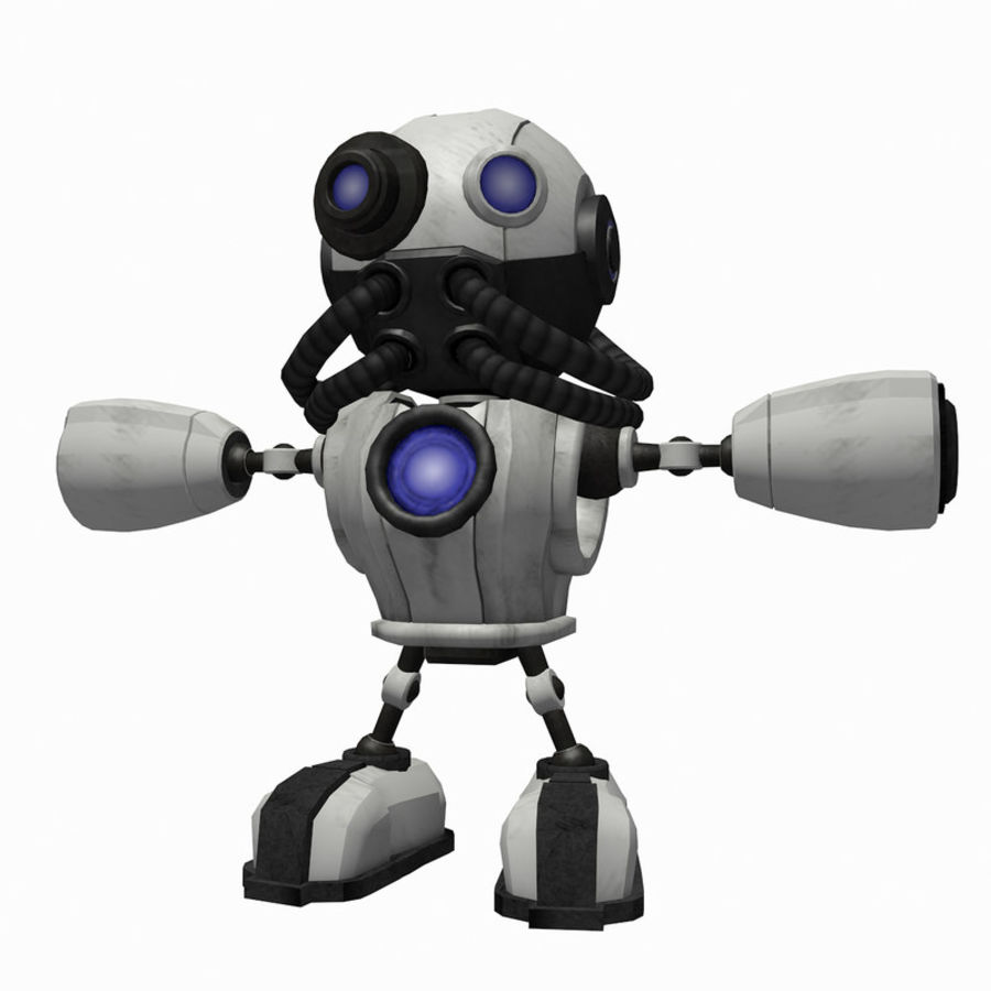 SciFi Robot 1 - Sci-Fi Cartoon Character royalty-free 3d model - Preview no. 2