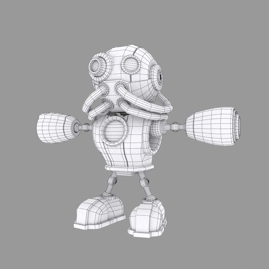 SciFi Robot 1 - Sci-Fi Cartoon Character royalty-free 3d model - Preview no. 6