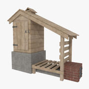 Smokehouse one textured 3d model