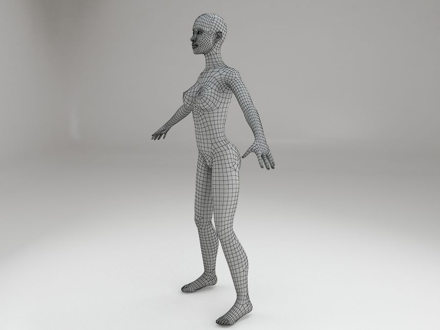 여성 본문 문자 royalty-free 3d model - Preview no. 12