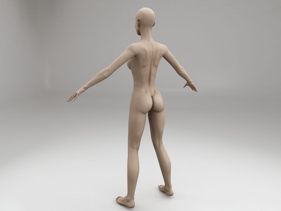 여성 본문 문자 royalty-free 3d model - Preview no. 3