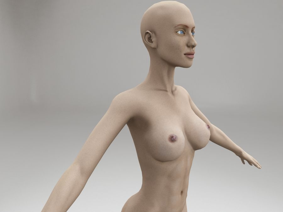 女性の体格 royalty-free 3d model - Preview no. 9