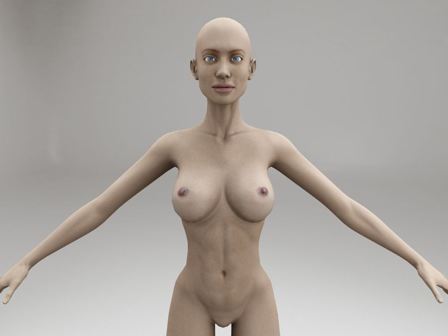 女性の体格 royalty-free 3d model - Preview no. 8