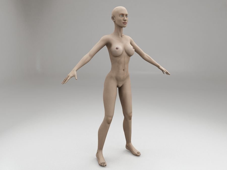 女性の体格 royalty-free 3d model - Preview no. 7