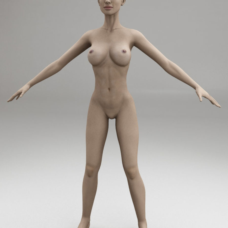 女性の体格 royalty-free 3d model - Preview no. 1