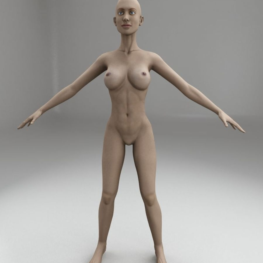 女性の体格 royalty-free 3d model - Preview no. 4