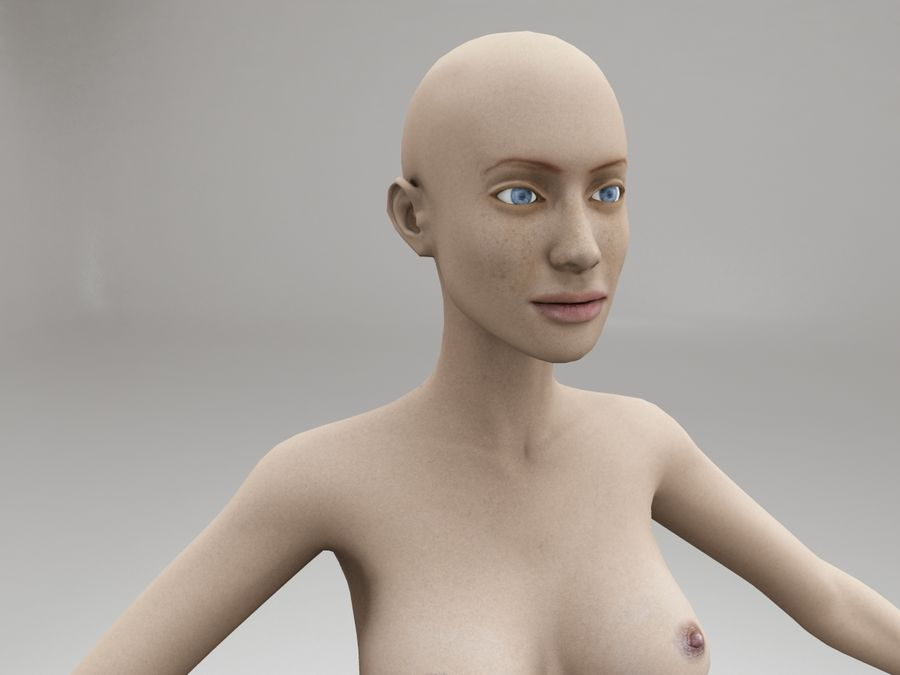 女性の体格 royalty-free 3d model - Preview no. 10