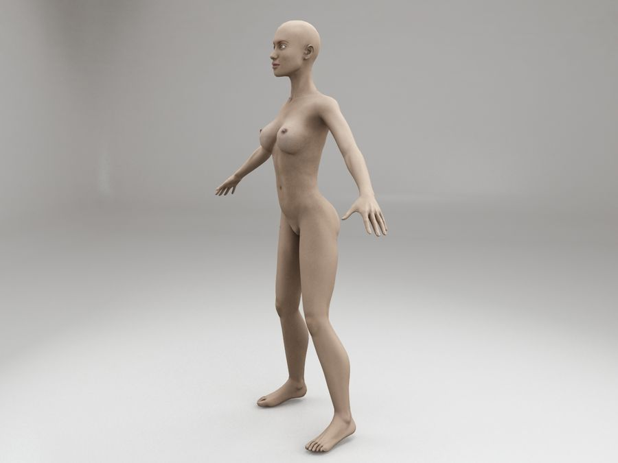 여성 본문 문자 royalty-free 3d model - Preview no. 2