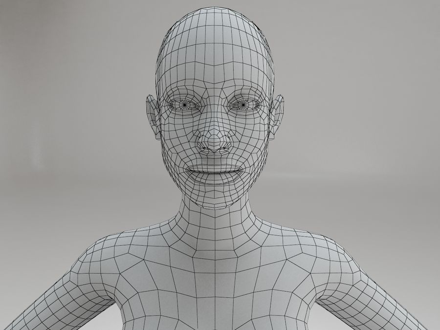 女性の体格 royalty-free 3d model - Preview no. 14