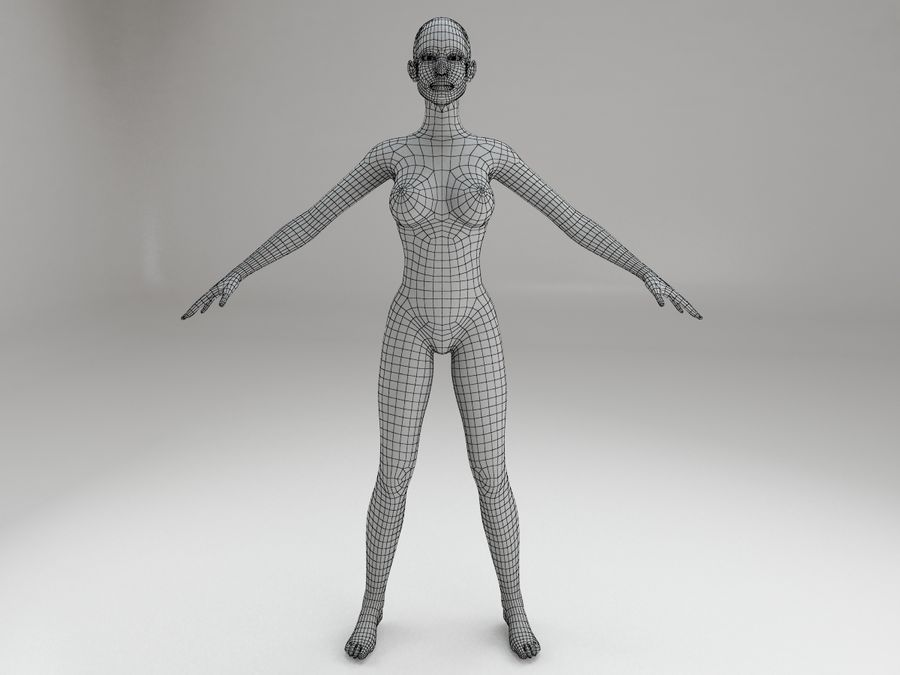 女性の体格 royalty-free 3d model - Preview no. 11
