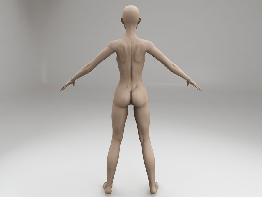 여성 본문 문자 royalty-free 3d model - Preview no. 5