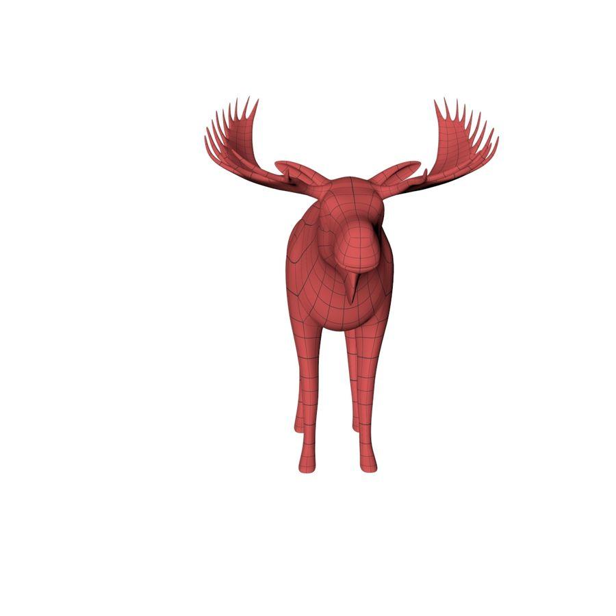 Moose base mesh royalty-free 3d model - Preview no. 3