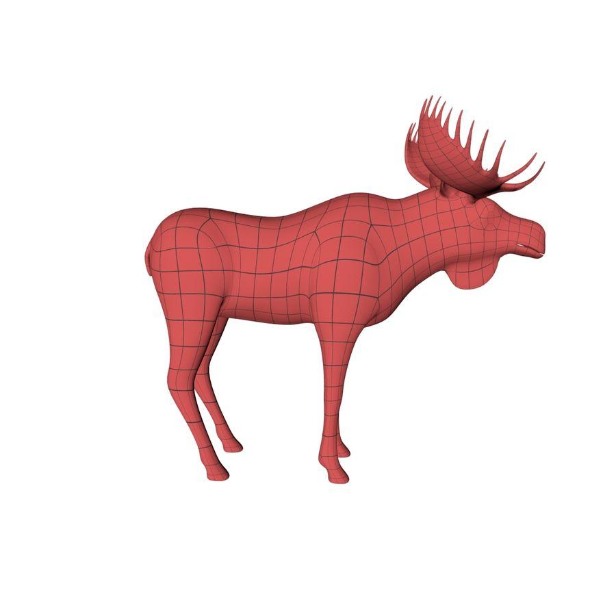 Moose base mesh royalty-free 3d model - Preview no. 1