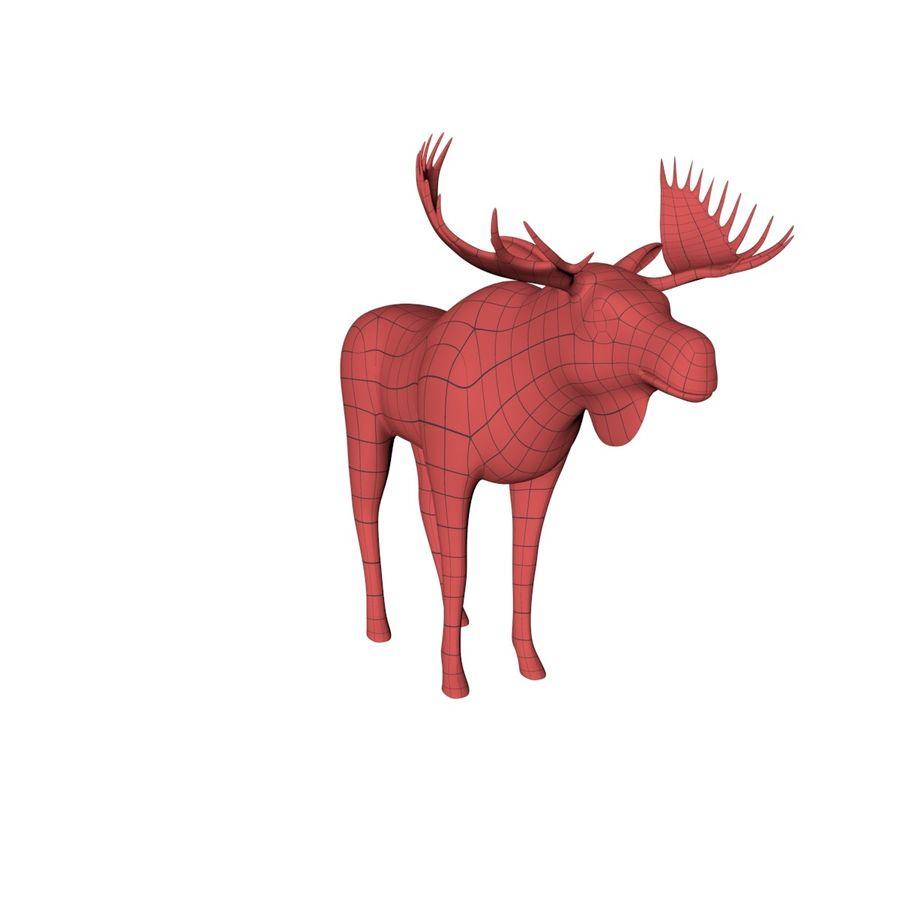 Moose base mesh royalty-free 3d model - Preview no. 2