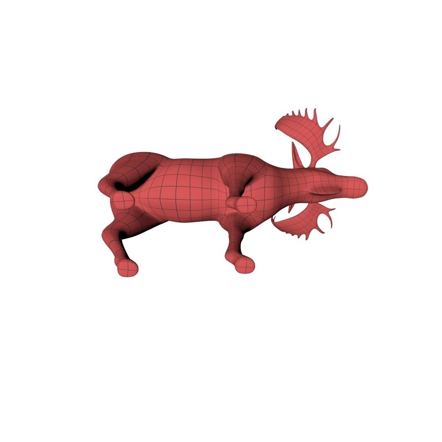 Moose base mesh royalty-free 3d model - Preview no. 5