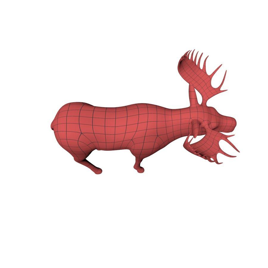 Moose base mesh royalty-free 3d model - Preview no. 4