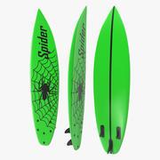 Tabla de surf tabla corta 4 modelo 3d