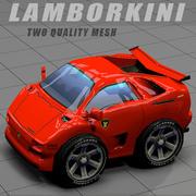 Lamborghini Diablo toon car 3d model