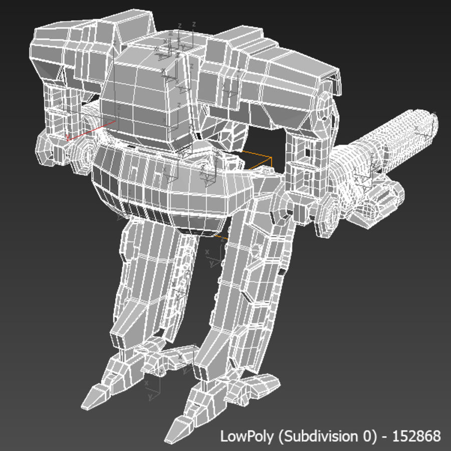 Mech robot Rigged royalty-free 3d model - Preview no. 12