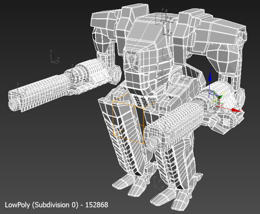 Mech robot Rigged royalty-free 3d model - Preview no. 10