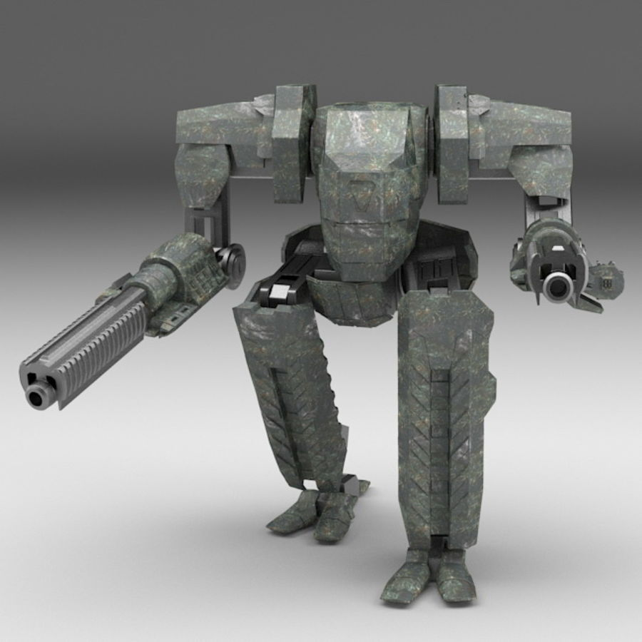 Mech robot Rigged royalty-free 3d model - Preview no. 1