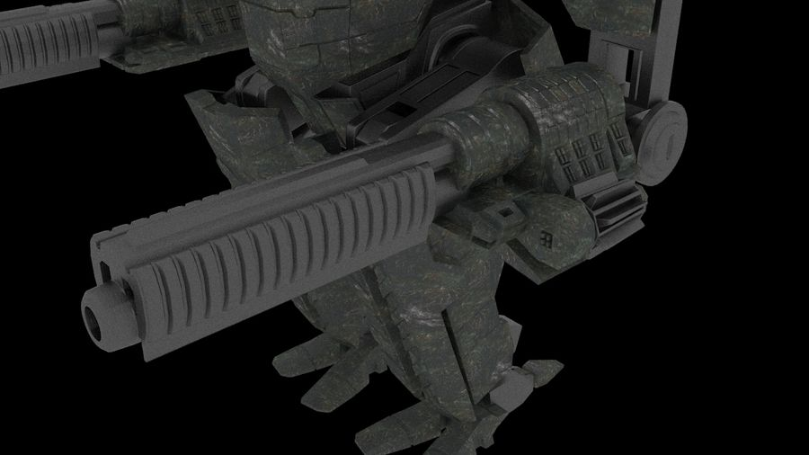Mech robot Rigged royalty-free 3d model - Preview no. 3