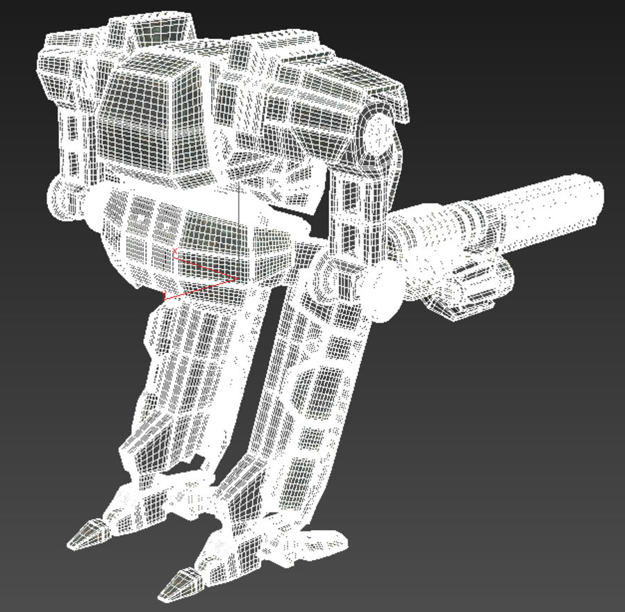Mech robot Rigged royalty-free 3d model - Preview no. 6